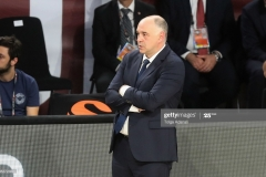 ISTANBUL, TURKEY - MAY 19: Pablo Laso, Head Coach of Real Madrid during the Turkish Airlines EuroLeague Final Four Semifinal A game between Fenerbahce Istanbul v Real  Madrid at Sinan Erdem Dome on May 19, 2017 in Istanbul, Turkey.  (Photo by Tolga Adanali/Euroleague Basketball via Getty Images)