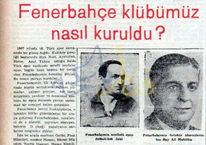 Bir Fenerbahçeliden Kuruluş Hikayesi