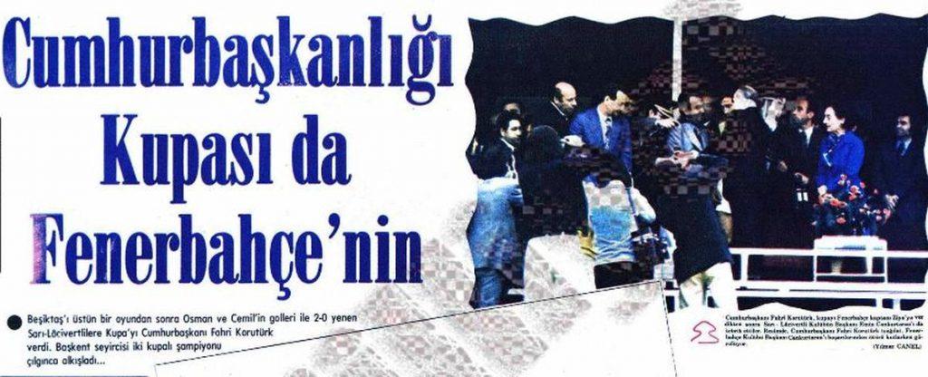 Fenerbahçeli Cumhurbaşkanı Fahri Korutürk