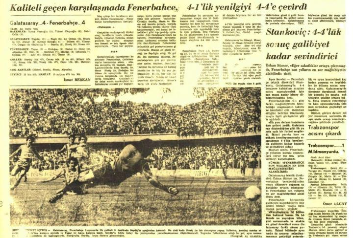 Bir Büyük Beraberlikçi Fenerbahçe