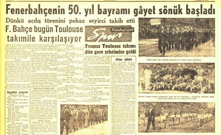 Fenerbahçe'nin 50. Yıl Törenleri I