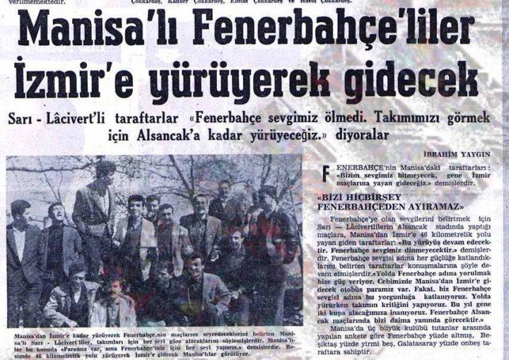 İzmir'e Yürüyen Fenerbahçeliler