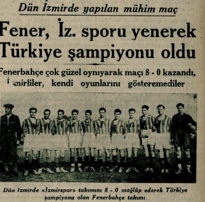 Fenerbahçe'nin İlk Türkiye Şampiyonluğu
