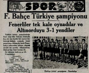 Fenerbahçe'nin İkinci Türkiye Şampiyonluğu