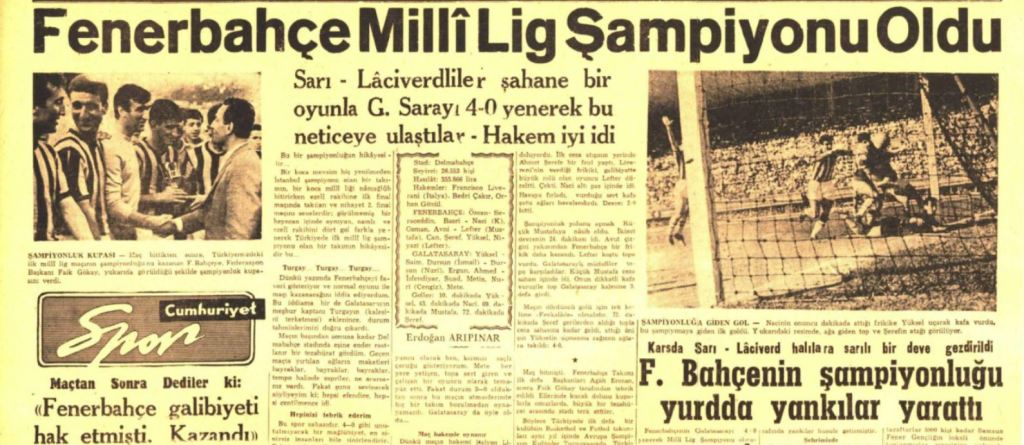 Fenerbahçe'nin Onuncu Türkiye Şampiyonluğu