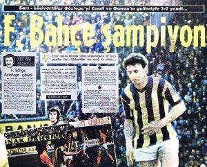Fenerbahçe'nin On Altıncı Türkiye Şampiyonluğu