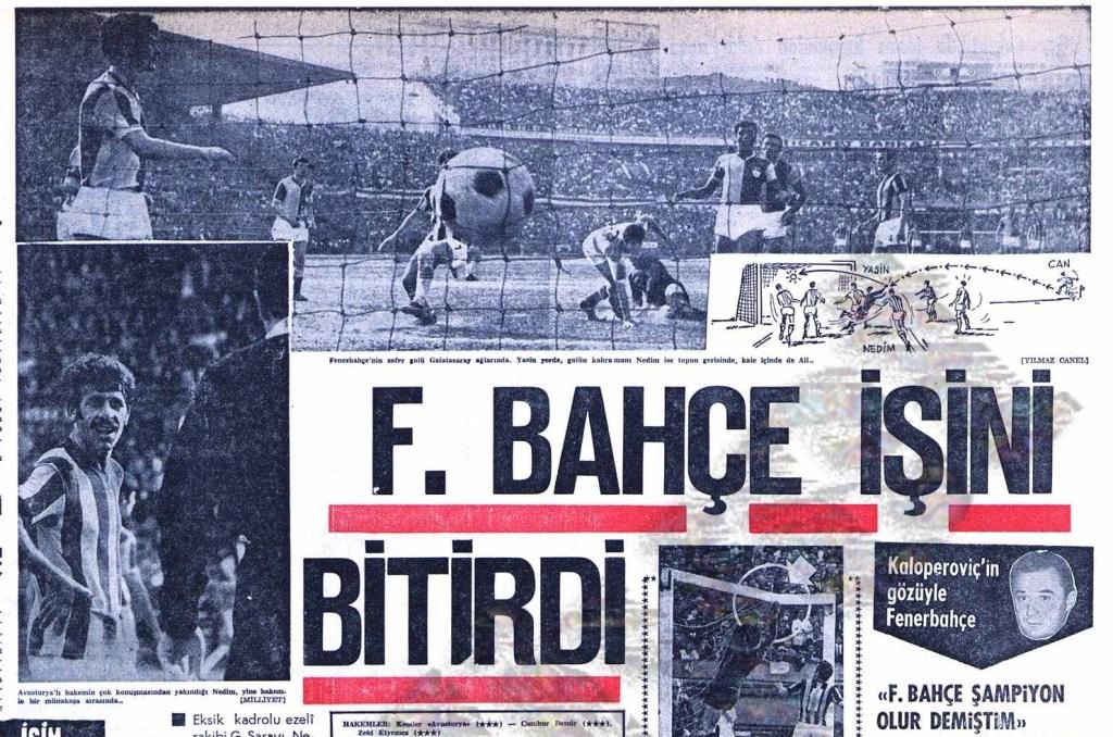 Fenerbahçe'nin On Beşinci Türkiye Şampiyonluğu