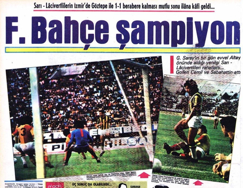 Fenerbahçe'nin On Yedinci Türkiye Şampiyonluğu