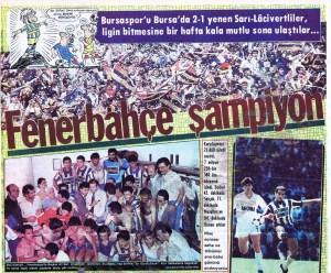 Fenerbahçe'nin On Dokuzuncu Türkiye Şampiyonluğu