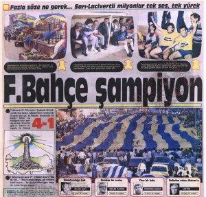 Fenerbahçe'nin Yirmi Birinci Türkiye Şampiyonluğu