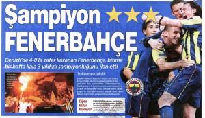 Fenerbahçe'nin Yirmi Dördüncü Türkiye Şampiyonluğu