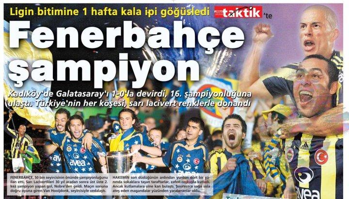 Fenerbahçe'nin Yirmi Beşinci Türkiye Şampiyonluğu