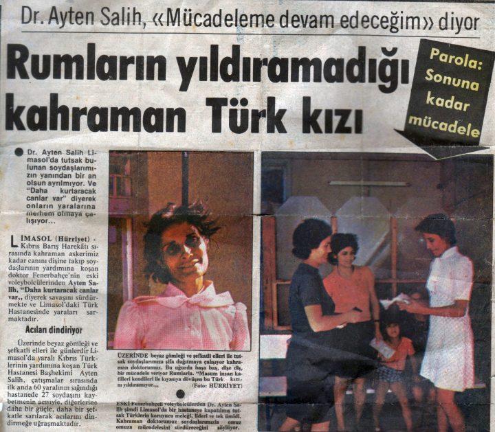 Kıbrıs'ın Fenerbahçeli Kahramanı Dr. Ayten Salih