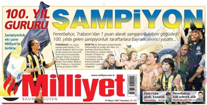 Fenerbahçe'nin Yirmi Altıncı Türkiye Şampiyonluğu