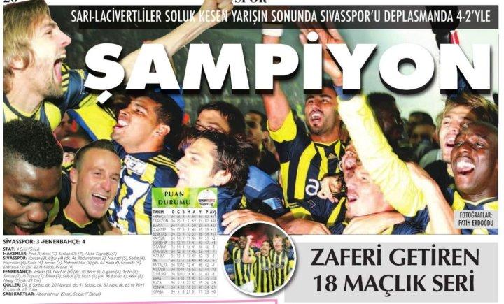 Fenerbahçe'nin Yirmi Yedinci Türkiye Şampiyonluğu
